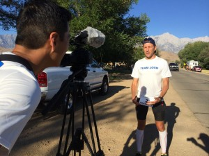Badwater.Billy interview pre-race.Colin
