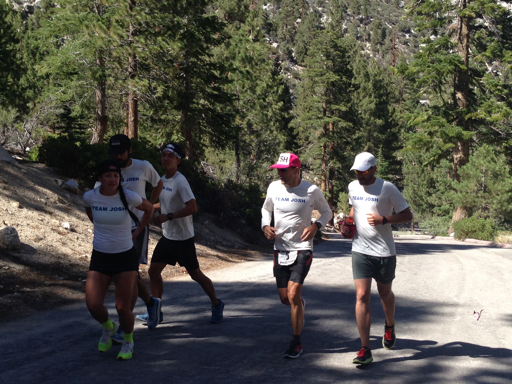 Badwater.running to finish with crew.elizabeth