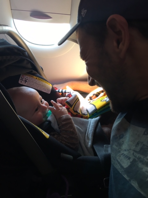 Chase on plane June